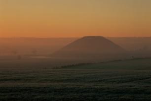 A frosty Silbury Hill
